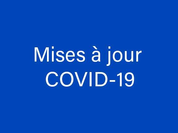 Mises à jour COVID-19